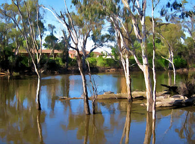 Landscape Painting - Murray River by Snowflake Obsidian