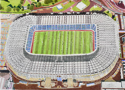 Rugby Painting - Murrayfield Stadia Art - Scotland Rugby Union by Brian Casey