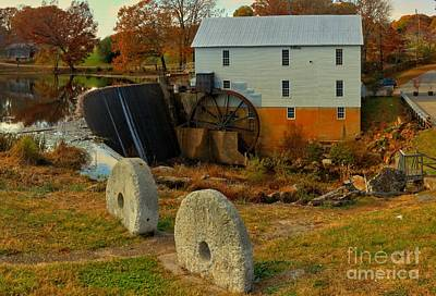 Old Mills Photograph - Murray's Grist Mill Landscape by Adam Jewell