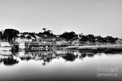 Photograph - Murrells Inlet Evening Bw by Mel Steinhauer