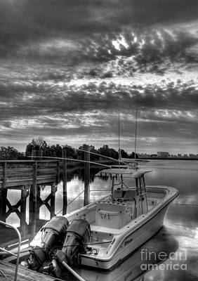 Photograph - Murrells Inlet Morning 4 Bw by Mel Steinhauer