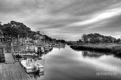 Photograph - Murrells Inlet Morning 5 Bw by Mel Steinhauer