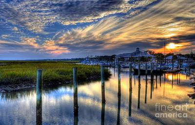 Murrells Inlet Sunset 1 Art Print by Mel Steinhauer