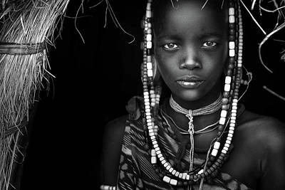 Bead Photograph - Mursi Girl by Hesham Alhumaid