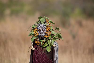 Mursi Tribe In Southern Ethiopia Art Print by Ton Koene