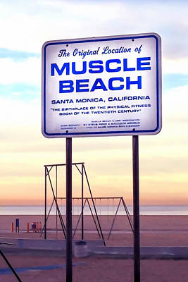 Message Art Photograph - Muscle Beach by Art Block Collections