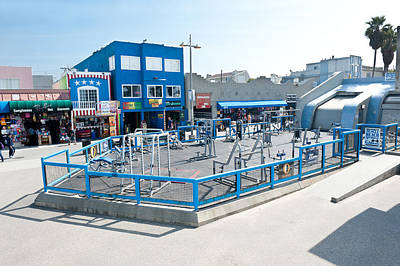 Muscle Beach Gym In Venice California Art Print