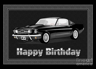 Digital Art - Muscle Car 16th Birthday by JH Designs