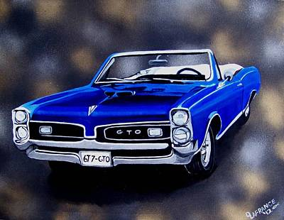 Muscle Car Painting - Muscle Car 6t7-gto by Debbie LaFrance