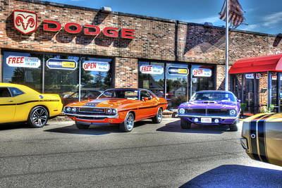 Photograph - Muscle Car Dealership by Ryan Doray