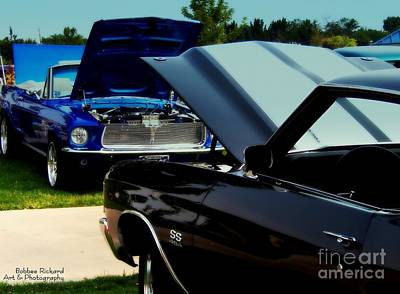 Photograph - Muscle Car Showdown by Bobbee Rickard