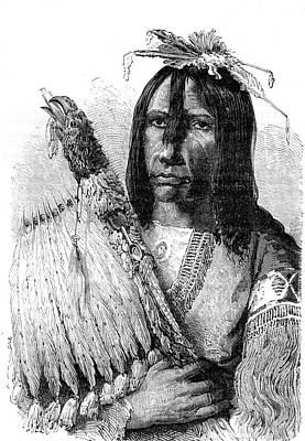 Clothes Clothing Photograph - Muscogee Chief by Collection Abecasis
