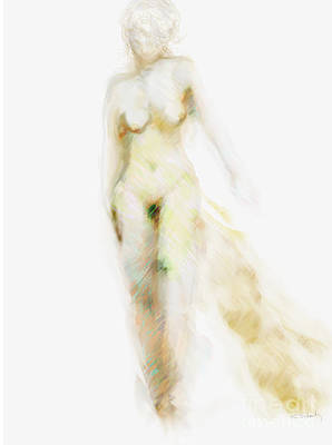 Art Print featuring the digital art Muse by Gabrielle Schertz