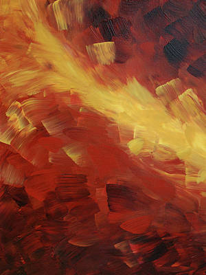 Muse In The Fire 1 Print by Sharon Cummings