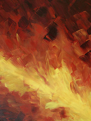 Muse In The Fire 2 Art Print by Sharon Cummings