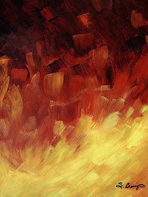 Muse In The Fire 3 Art Print by Sharon Cummings