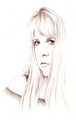 Stevie Nicks Drawing - Muse by Johanna Pieterman