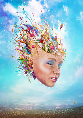 Creativity Digital Art - Muse by Mario Sanchez Nevado