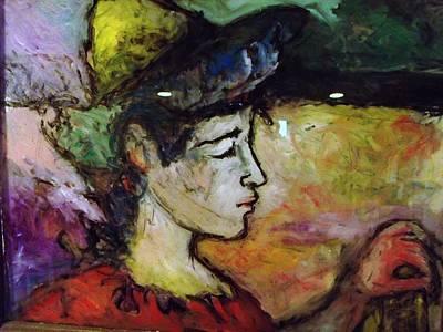 Contemplative Painting - Muse Struck by Mykul Anjelo