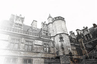 Musee De Cluny When The World Was Flat Art Print by Evie Carrier