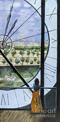Musee D'orsay In Paris By Sandy Taffin Print by Sheldon Kralstein
