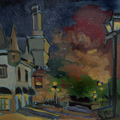 Painting - Musee Du Fort Night Study by J R Baldini