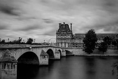 Musee Du Louvre And Pont Royal Art Print