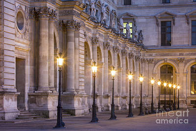 Photograph - Musee Du Louvre Lamps by Brian Jannsen
