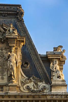 Caryatids Photograph - Musee Du Louvre Rooftop by Brian Jannsen
