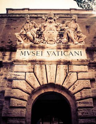 Photograph - Musei Vaticani Uscita by Rob Tullis