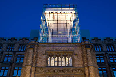 Photograph - Museum Glass At Night by Rob Huntley