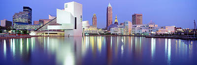 Lake Erie Photograph - Museum, Rock And Roll Hall Of Fame by Panoramic Images