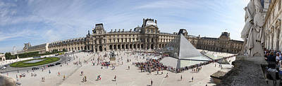 Museum With Glass Pyramid, Musee Du Art Print by Panoramic Images