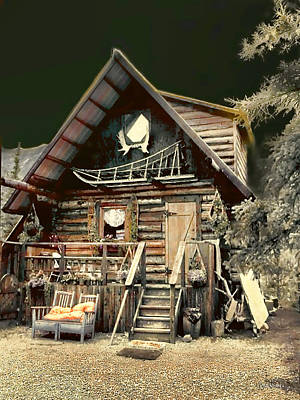 Photograph - Musher's Cabin by Dyle   Warren