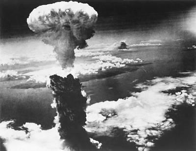 A-bomb Photograph - Mushroom Cloud Of Atom Bomb Exploded by Everett