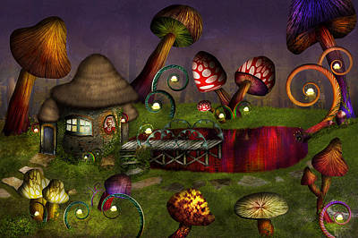 Digital Art - Mushroom - Deep In The Bayou by Mike Savad