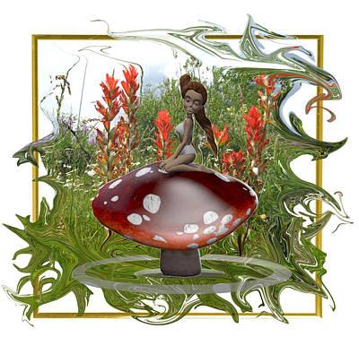 Mushroom Fairy Print by Jennifer Schwab