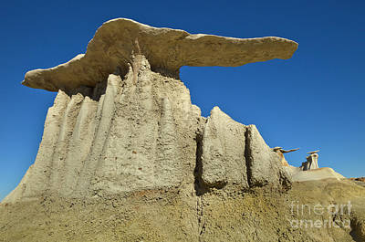 Photograph - Mushroom Hoodos Bisti Wilderness by Yva Momatiuk and John Eastcott