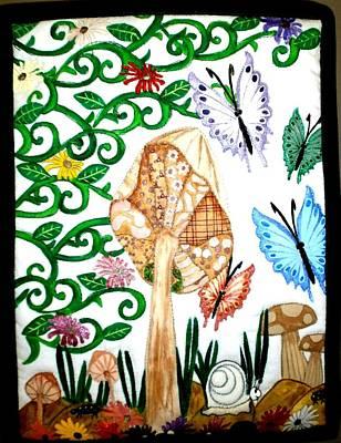 Mushroom Hunt Art Print by Linda Egland