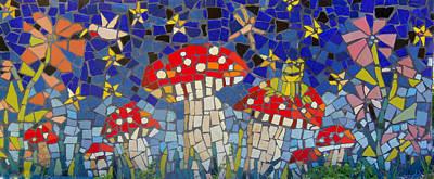 Photograph - Mushroom Mosaic by Lou Ann Bagnall