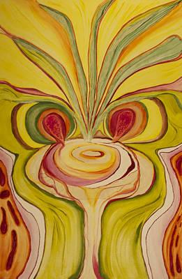 Mushroom Sage Onion Original by Phoenix The Moody Artist