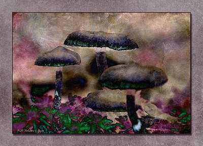 Photograph - Mushrooms 5 by WB Johnston