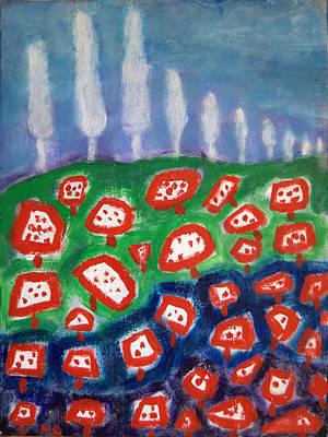 Painting - Mushrooms by Michael Dohnalek