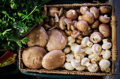 Food Photograph - Mushrooms by Tanya Harrison