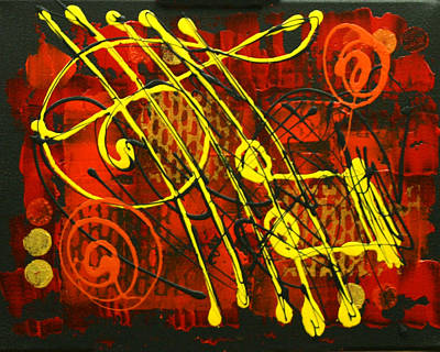 Jazz Painting - Music 3 by Leon Zernitsky