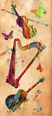 Violins Digital Art - Music 3 by Mark Ashkenazi