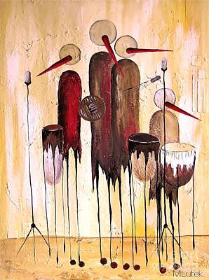 Graphics Painting - Music 740 - Marucii by Marek Lutek