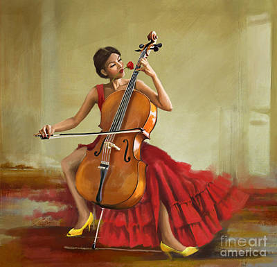 Painting - Music And Beauty by Corporate Art Task Force