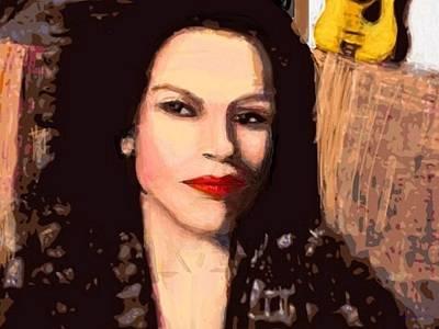 Lip Stick Painting - Music And Lipstick by Larry Lamb