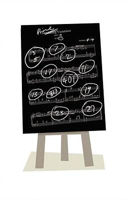 Music And Prime Numbers, Artwork Art Print by Science Photo Library